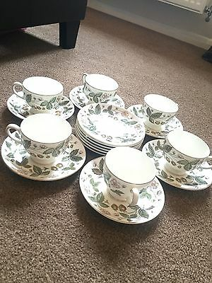 Wedgwood Strawberry Hill Bone China Tea Cups And Saucers