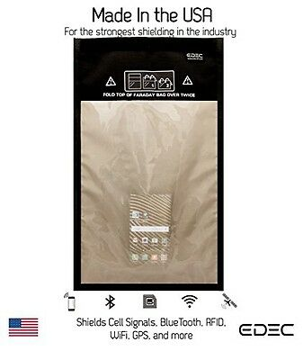 EDEC Black Hole Faraday Bag - RF Signal Isolation for Forensics, Large Window