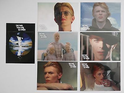 DAVID BOWIE THE MAN WHO FELL TO EARTH Rare 7 Card Preview Set