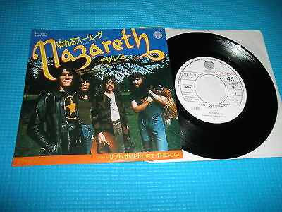 "NAZARETH Promo 7"" Single Carry Out Feelings / Lift The Lid Japan SFL-2078"