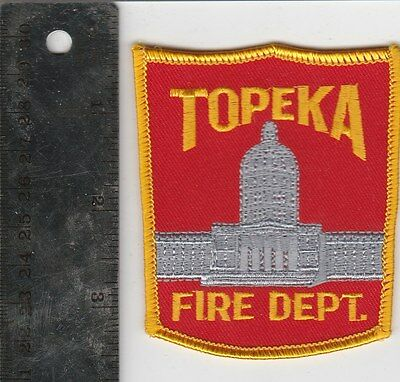 Topeka Kansas Fire Department Embroidered Patch Vintage
