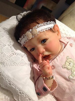 SASKIA, By Bonnie Brown , Gorgeous,Beautiful,Reborn Cute Baby Girl,COA included