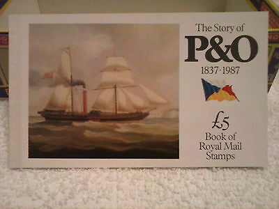 DX8 The Story of P & O 1987  £5 Royal Mail Prestige Stamp Book.