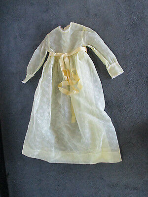 "Vintage/Antique Yellow DRESS for Large German Bisque Dolls 26""- 35"" tall doll"
