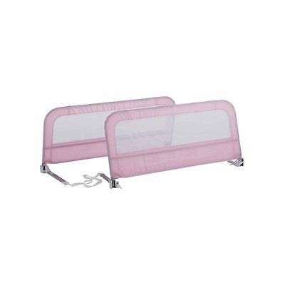 Summer Infant Sure & Secure Double Pink Bedrail Guard Barrier