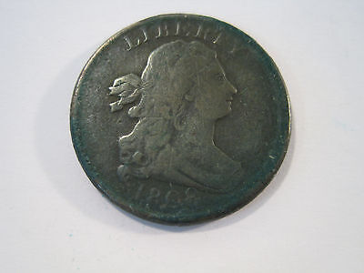 1808 Draped Bust Half Cent Half Penny Copper US Coin *5410