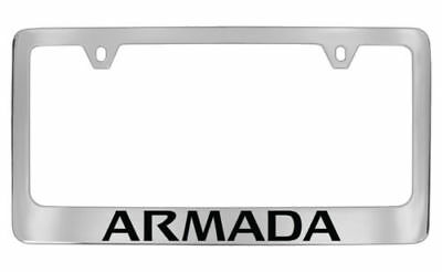 nissan armada chrome metal license plate frame holder