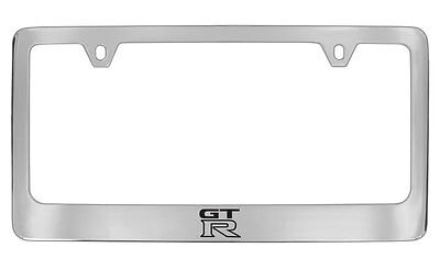 nissan gtr chrome metal license plate frame holder