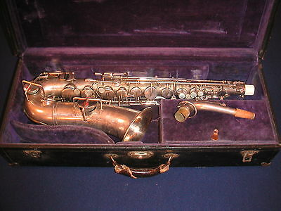 c.1926 THE BUESCHER TRUE TONE SERIES 4 ALTO SAXOPHONE w/* NECK - FOR RESTORATION