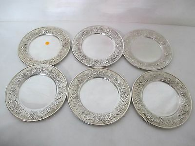 Magnificent S. Kirk And Son Repousse Bread Plates 6 Pcs.