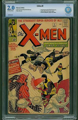 X-Men #1 (1963) CBCS Graded 2.0 ~ 1st Appearance & Origin Of The X-Men ~ Not CGC