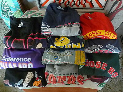 90's Lot Of 10 Vintage Printed SPORTS T Shirts Looney ADIDAS Starter SALEM UCLA