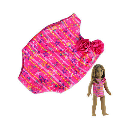 New Summer Clothes Swimwear Swimming Bathing Suit fit 18 Inch American Girl Doll