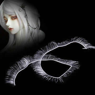 8mm DIY White False Eyelashes fits Doll DOD DZ Dollfie BJD SD Make Up Accessory