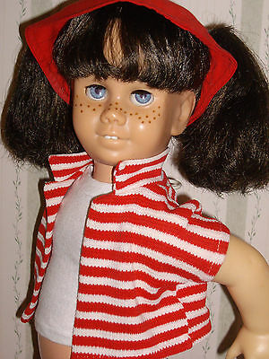 Sweet Chatty Cathy #5 Brunette Pigtail, Vintage Playtime outfit, TALKS GREAT!!
