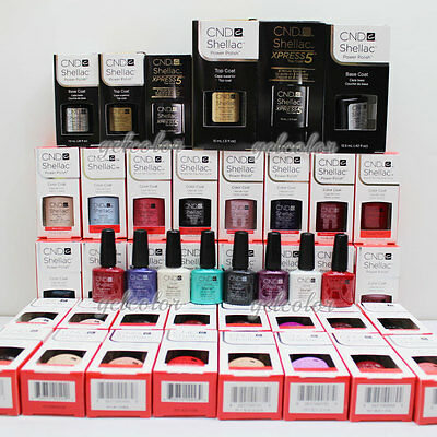 HOT SALE CND Shellac UV LED Gel Nail Polish Base Top Coat 7.3ml 0.25oz DISCOUNT