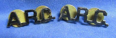 WWII A.R.C. American Red Cross Officer Collar Insignia Set