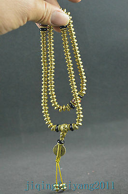 collectable antique copper handwork carving elegant pearl noble necklace