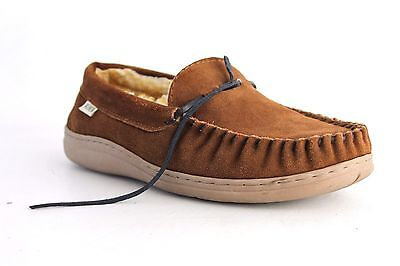 14th& Union Men's Brown Moccasins Slippers Size 9M  S2549