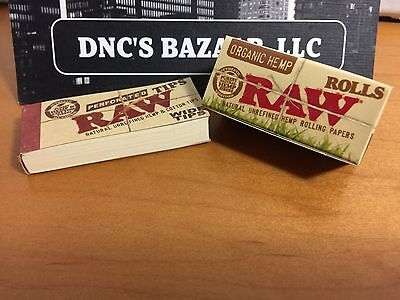Raw Perforated Wide Tips & Raw Rolls 5 Meter Organic Hemp Rolling Papers