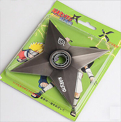Hot Anime Naruto Uzumaki Naruto Rotatable Alloy Shuriken Weapon