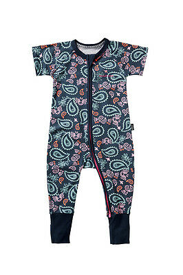 Bonds Baby Short Sleeve Zip Wondersuit Zippy Weekender Byeka Size 0000 - 3