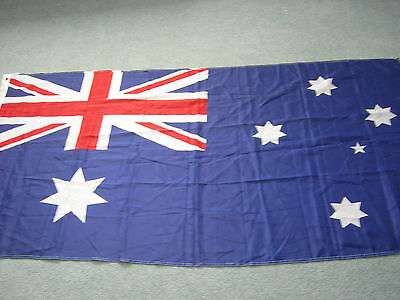 """Flag of AUSTRALIA - 35"""" x 70"""" - Polyester - Two Grommets - EXC"""