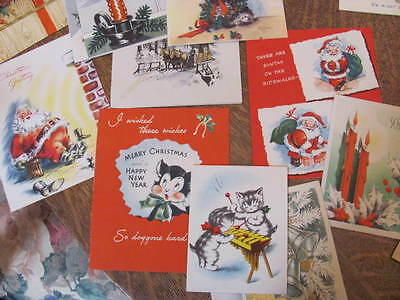 39 Vintage Lot 40's 50's  Greeting Cards, Christmas, Valentines,Birthday, Lot C
