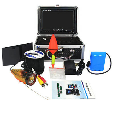 "Underwater 30m Fish Finder Video Camera 7"" TFT LCD Color Monitor 1000TVL IR US"