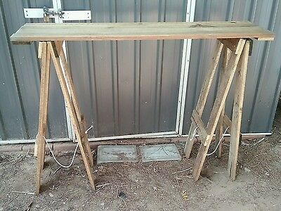 Rustic recycled wood entrance/hall/outdoor display table.