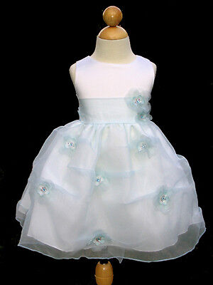 Infant Girls Easter, Party, Dress, baby blue/White, Sz: X-Large  (18-24 Month)