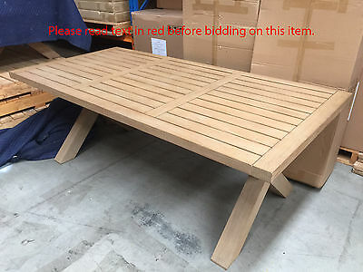 Large Coastal Beach Rustic Teak Solid Timber Dining Table Outdoor Furniture NEW