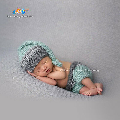 Newborn Baby Girls Boys Crochet Knit Costume Photo Photography Prop Outfits #S1