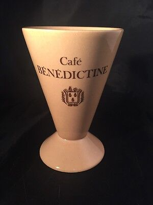 Cafe BENEDICTINE LIQUEUR CAFE CERAMIC FRENCH Cup Goblet