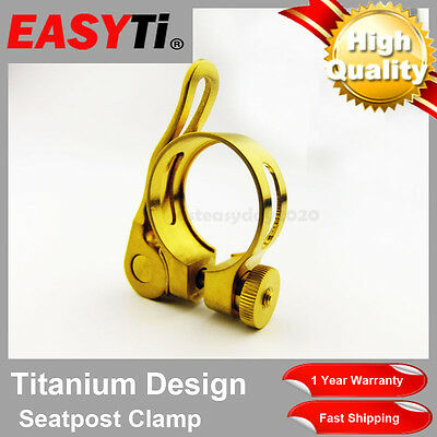 EasyTi Titanium 31.8mm  Quick Release Seat Post Clamp Gold
