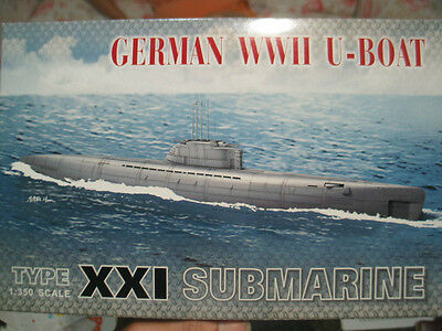 AFV CLUB 1/350 German WWII U-Boat Type XXI Submarine