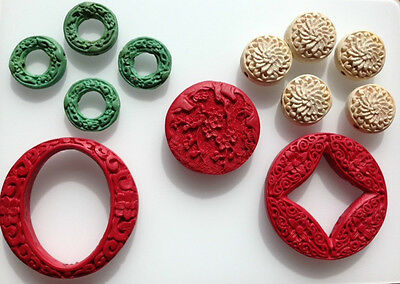 Cinnabar Beads & Pendants - Assorted styles, sizes and colours