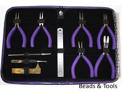 DELUXE BEADING TOOL KIT Pliers Stainless Steel Box Joint Construction