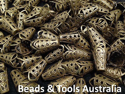 Bead Caps Bronze - Adjustable - 20pc or 50pc - Fast Shipping - BEADS & TOOLS