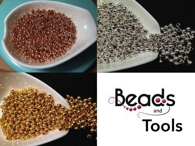 Metal Spacer Beads 2mm 3mm 4mm Gold Silver Rose Gold Jewellery Metal Spacer Bead