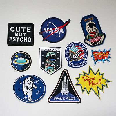 Embroidery NASA Planet Applique Sew Iron On Patch Badge Bag Cloth Sewing Dress