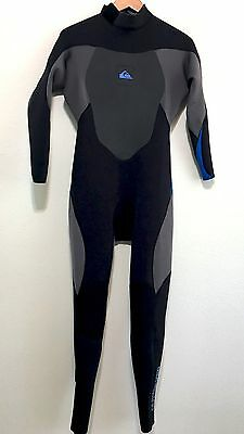 Quiksilver Mens Full Wetsuit Syncro 3/2 Size LS Large Short