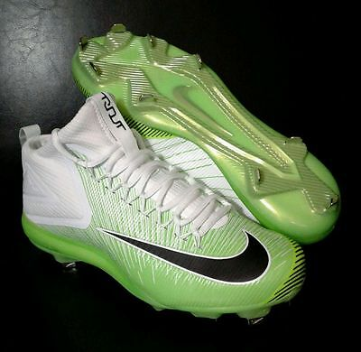 Nike Lunar Vapor Trout Asg Metal Baseball Cleat Size 9.5 White Green 844627-103