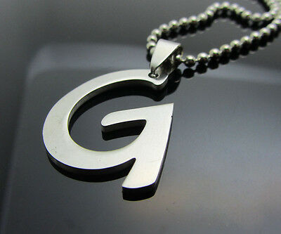 Hot letter G 1pcs Women/ Men's Silver 316L Stainless Steel  Pendant Necklace
