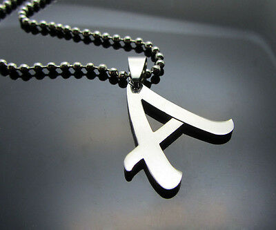 Hot letter A 1pcs Women/ Men's Silver 316L Stainless Steel  Pendant Necklace