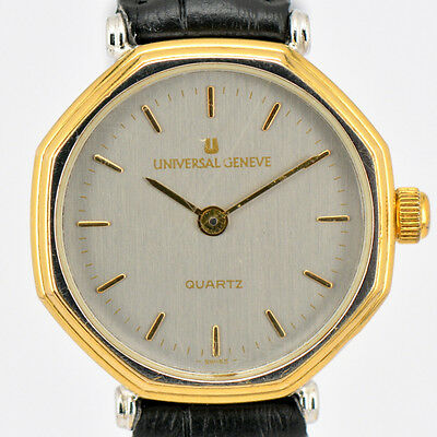 Auth UNIVERSAL GENEVE Quartz Stainless & Gold Plated Women's Watch #B401