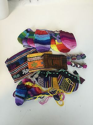 Bulk Lot Guatemalan Crystal Purses And Pouches Great For Markets Ex Shop Stock