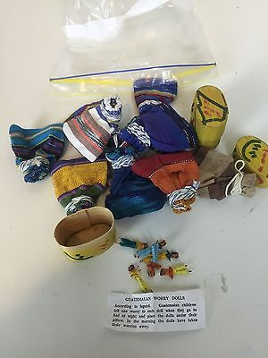 Bulk Lot Guatemalan Worry Dolls X 13 Boxes And Pouches Great For Markets Ex Shop
