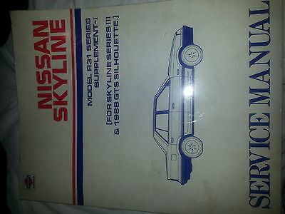 nissan skyline service manual book