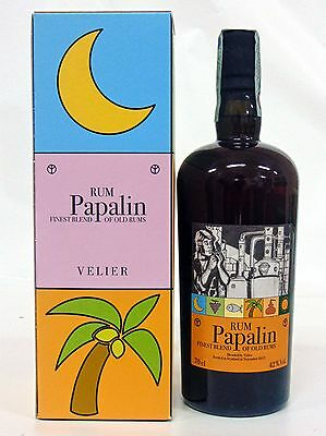 Rum PAPALIN 70 CL 42% FINE OLD RUM FROM VELIER WITH BOX